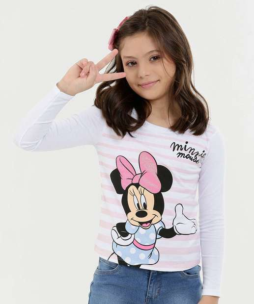 Image_Blusa Infantil Estampa Minnie Manga Longa Disney
