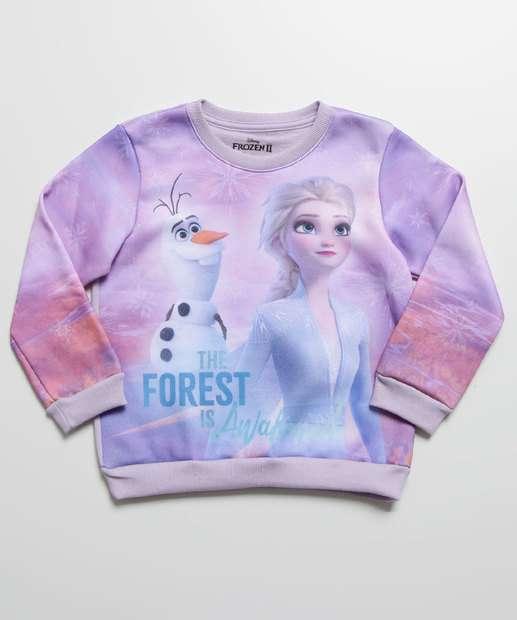 Image_Blusão Infantil Moletom Estampa Frozen Disney