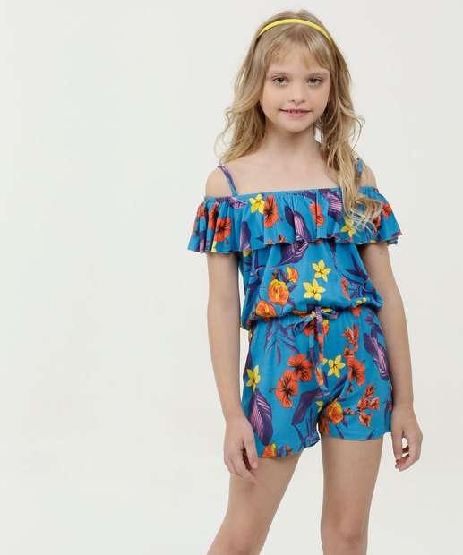 Image_Macaquinho Infantil Open Shoulder Estampa Floral