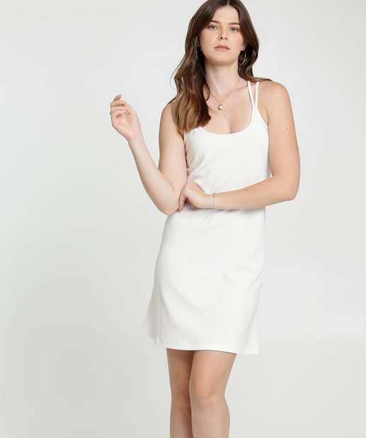 Image_Vestido Feminino Textura Alças Finas