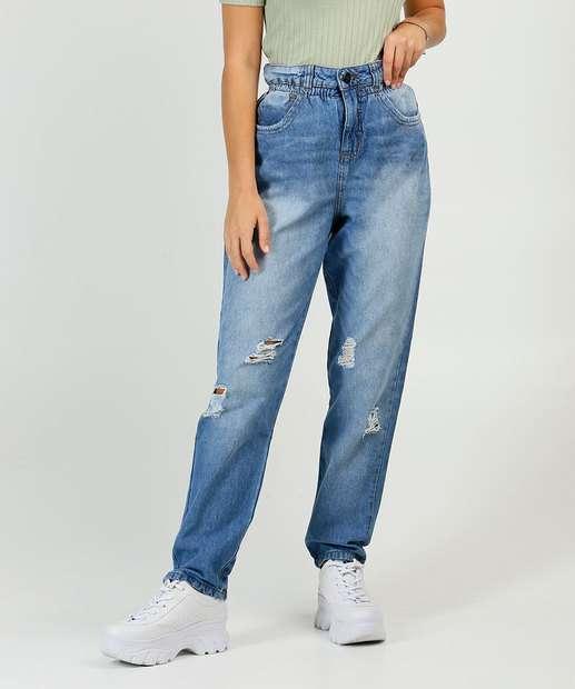 Image_Calça Mom Jeans Destroyed Feminina Biotipo