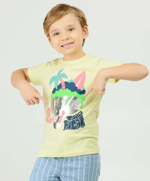 Image_Camiseta Infantil Manga Curta Estampa Frontal MR Tam 4 a 10