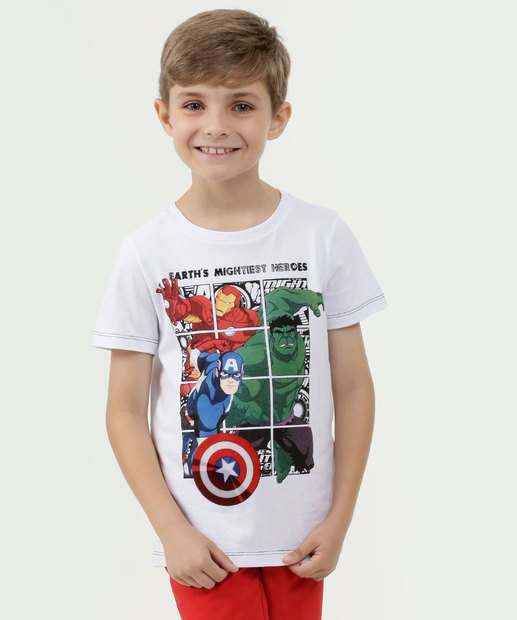 Image_Camiseta Infantil Estampa Vingadores Manga Curta Marvel