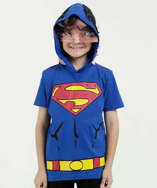 Image_Camiseta Infantil Estampa Super Homem Capuz Liga da Justiça
