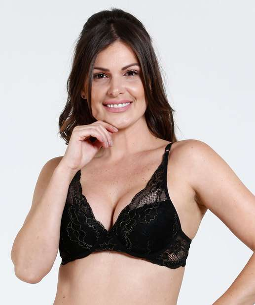 Image_Sutiã Feminino Push Up Renda Lurex Marisa