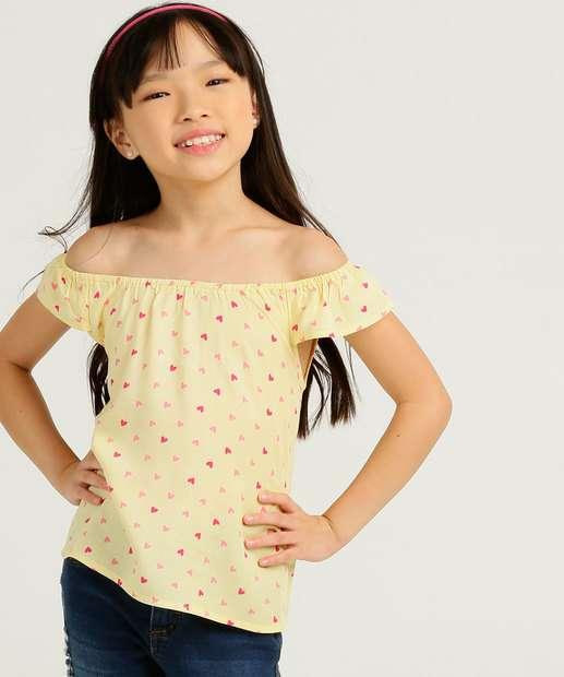 Image_Blusa Infantil Ombro a Ombro Coração Marisa Tam 4 a 10