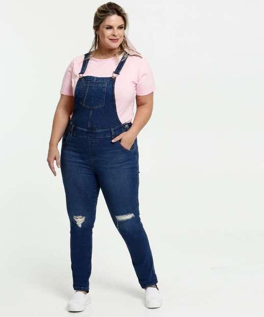 Image_Macacão Feminino Jeans Destroyed Plus Size