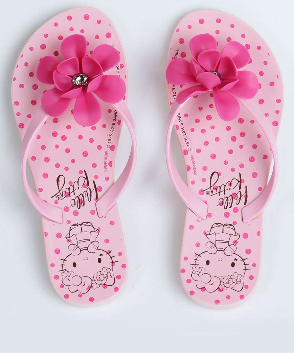 6c5605d333 Chinelo Infantil Hello Kitty Grendene Kids 21546