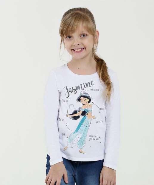 Image_Blusa Infantil Estampa Jasmine Manga Longa Disney