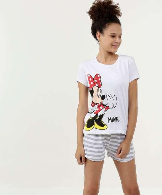 Image_Pijama Juvenil Estampa Minnie Manga Curta Disney
