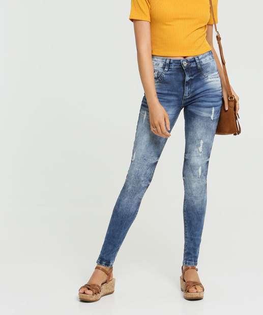 Image_Calça Jeans Skinny Destroyed Feminina Biotipo