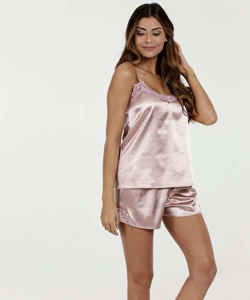 c5db1c5a4 Pijama Feminino Short Doll Alças Finas Marisa