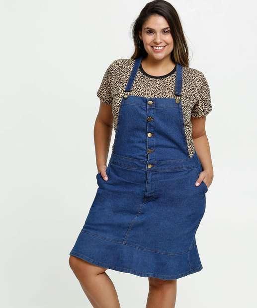 Image_Salopete Feminina Jeans Bolsos Plus Size Cambos Premium