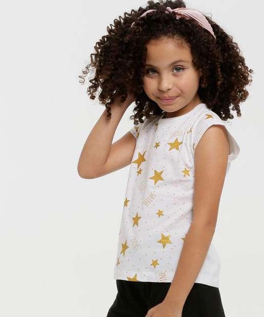 Image_Blusa Infantil Manga Curta Estrela Marisa Tam 4 a 10