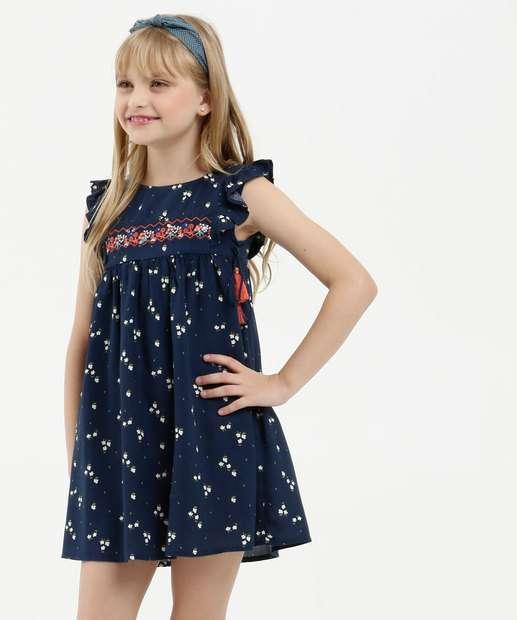 Image_Vestido Infantil Estampa Floral Manga Curta Marisa