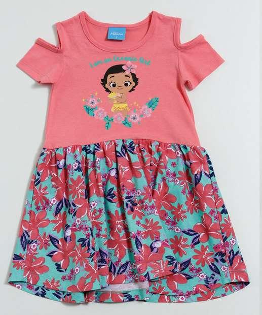 Image_Vestido Infantil Princesa Moana Flores Disney