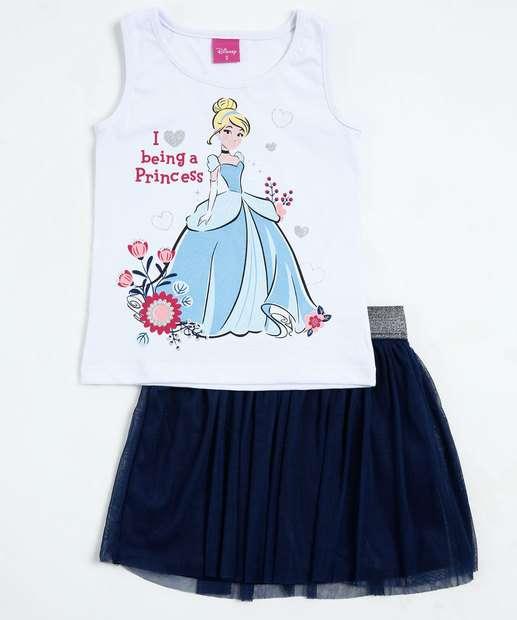 Image_Conjunto Infantil Princesa Cinderela Brilho Disney