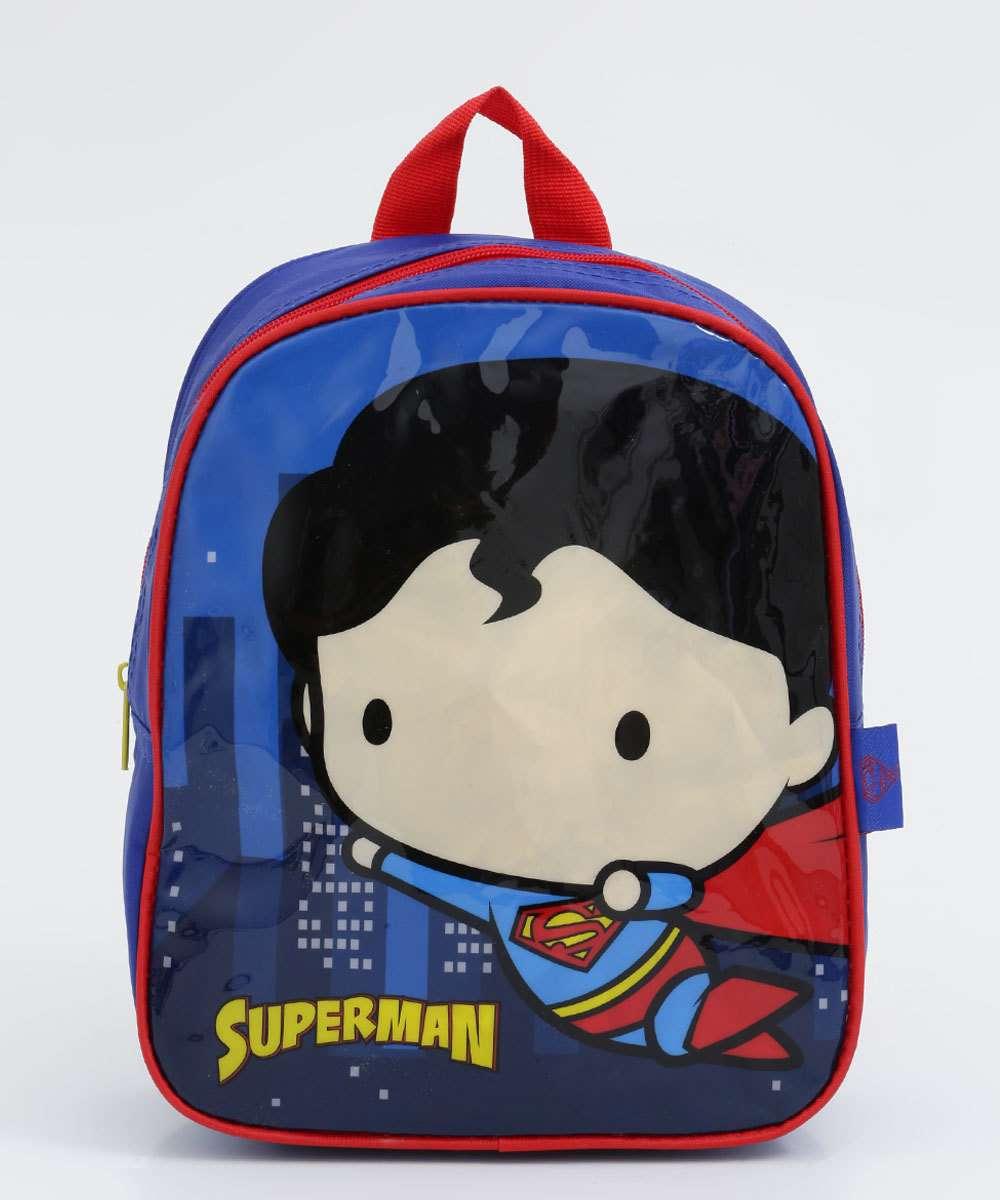 Mochila Infantil Escolar Super Homem Liga da Justiça