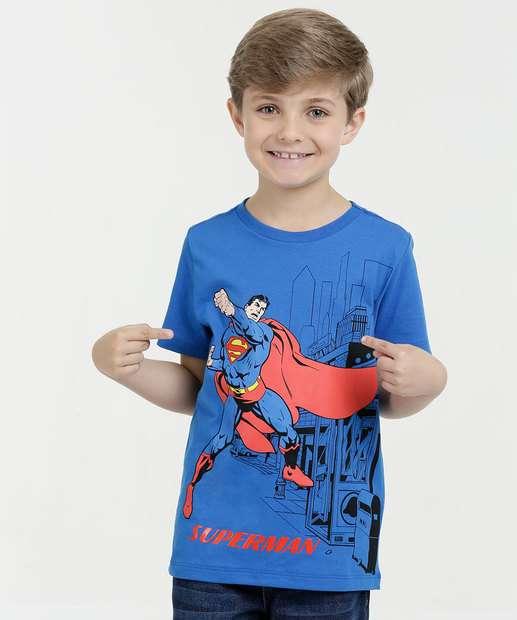 Image_Camiseta Infantil Estampa Super Homem Manga Curta Liga da Justiça