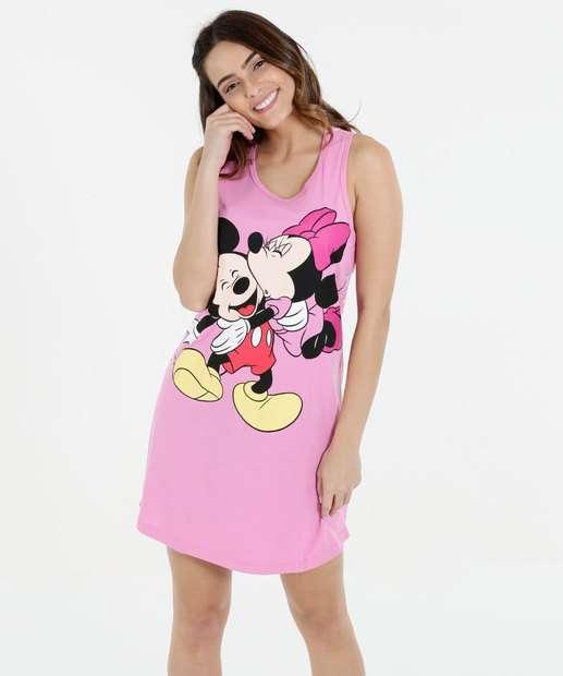 Image_Camisola Feminina Estampa Mickey e  Minnie Disney