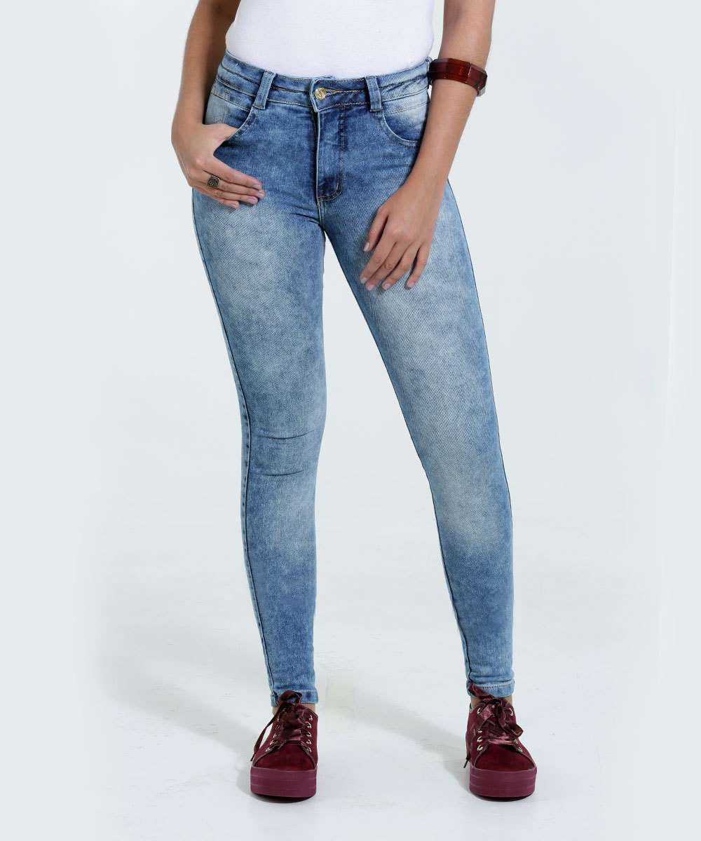 316847fba Calça Feminina Jeans Skinny Stretch Biotipo