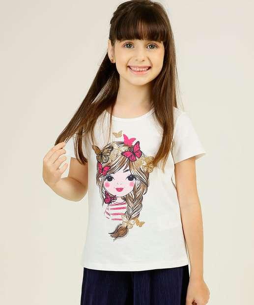 Image_Blusa Infantil Manga Curta Estampa Boneca Marisa Tam 4 a 10