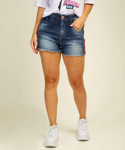 Image_Short Feminino Recorte Barra Desfiada Uber Jeans