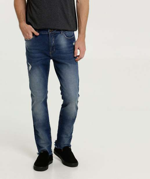 Image_Calça Masculina Jeans Slim Destroyed MR