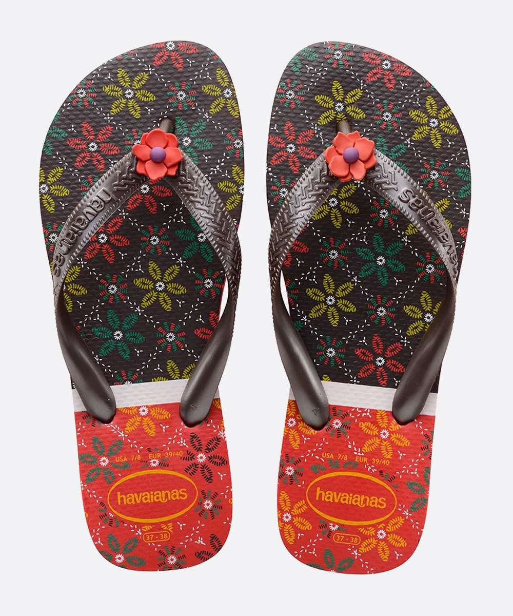 Chinelo Havaianas Feminino Estampado Top Gracia