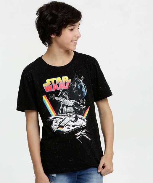 Image_Camiseta Juvenil Botonê Estampa Star Wars Disney