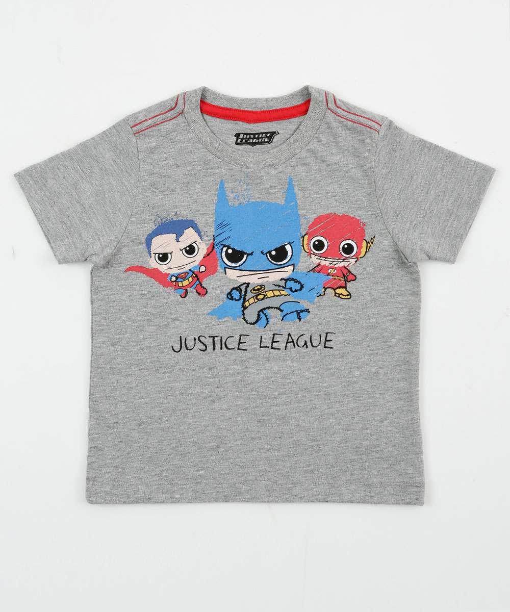 Image_Camiseta Infantil Manga Curta Liga da Justiça