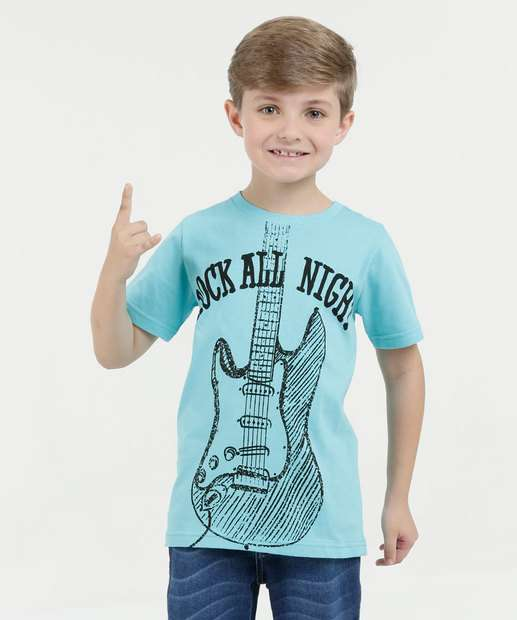 Image_Camiseta Infantil Rock Manga Curta Marisa