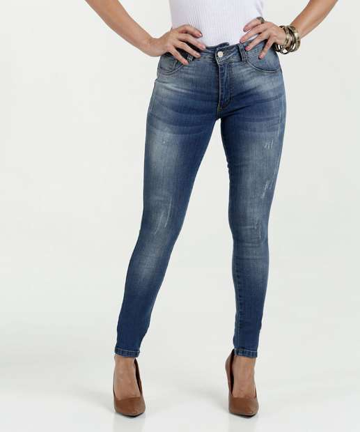 Image_Calça Feminina Jeans Skinny Stretch Puídos Biotipo