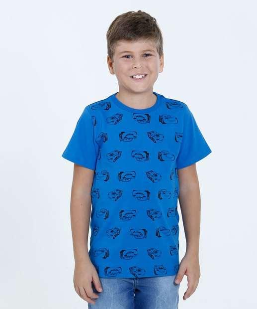 Image_Camiseta Infantil Estampa Carros Manga Curta Disney