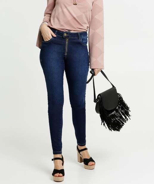 Image_Calça Skinny Feminina Bolsos Zune Jeans