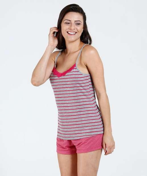 Image_Pijama Feminino Short Doll Listrado Marisa
