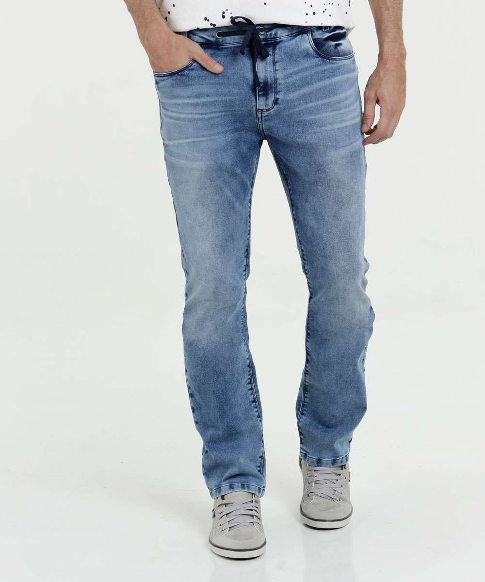 Calça Masculina Jeans Slim Stretch Mr