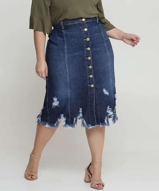 Image_Saia Feminina Jeans Midi Destroyed Plus Size