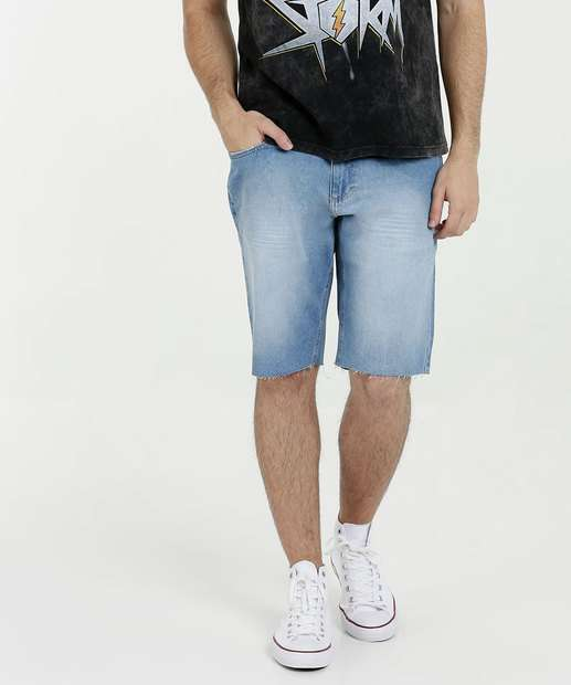 Image_Bermuda Masculina Jeans Barra Desfiada MR