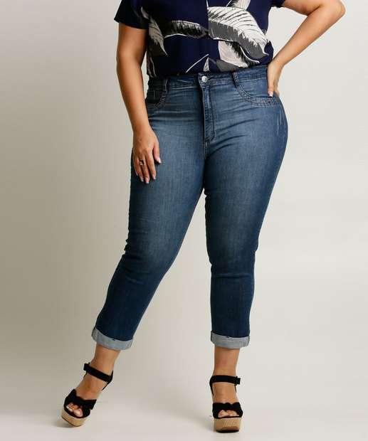 Image_Calça Plus Size Feminina Jeans Cigarrete Zamany
