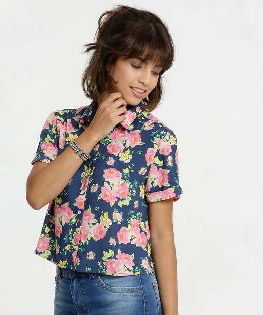 Image_Camisa Feminina Cropped Estampa Tropical Marisa