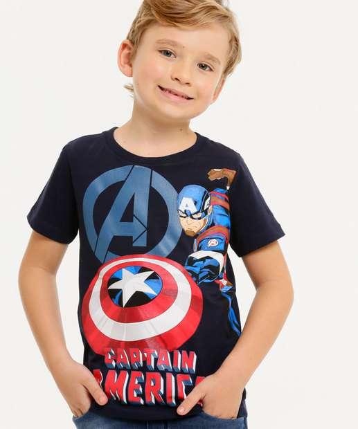 Image_Camiseta Infantil Estampa Capitão América Marvel Tam 4 a 10