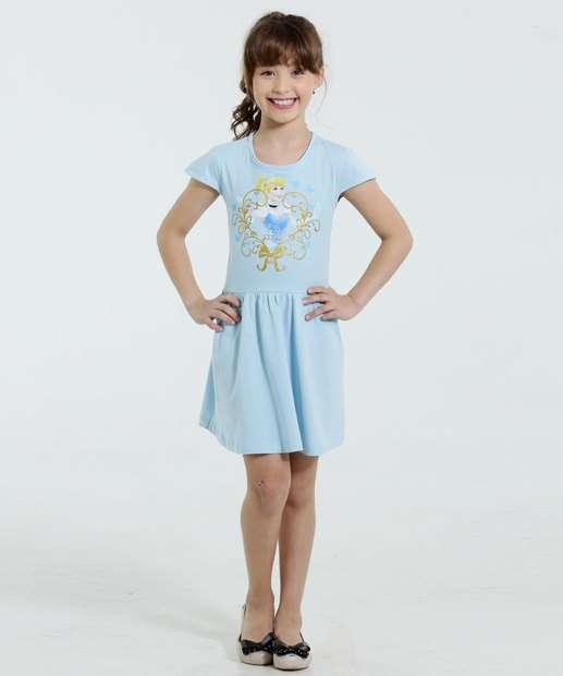 Image_Vestido Infantil Princesa Cinderela Brilho Disney
