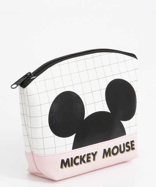 Image_Necessaire Feminina Quadriculada Mickey Disney