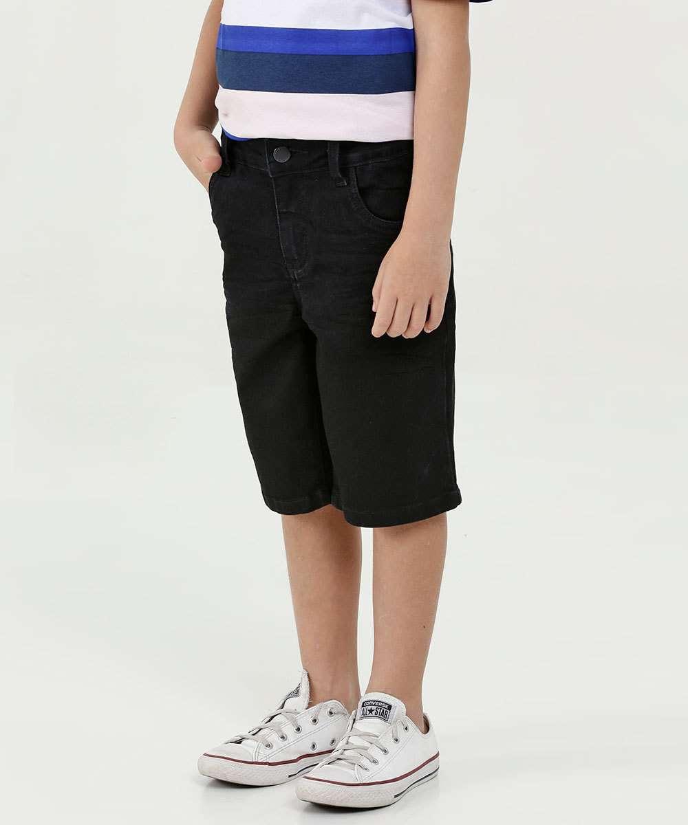Bermuda Infantil Jeans Bolsos Marisa