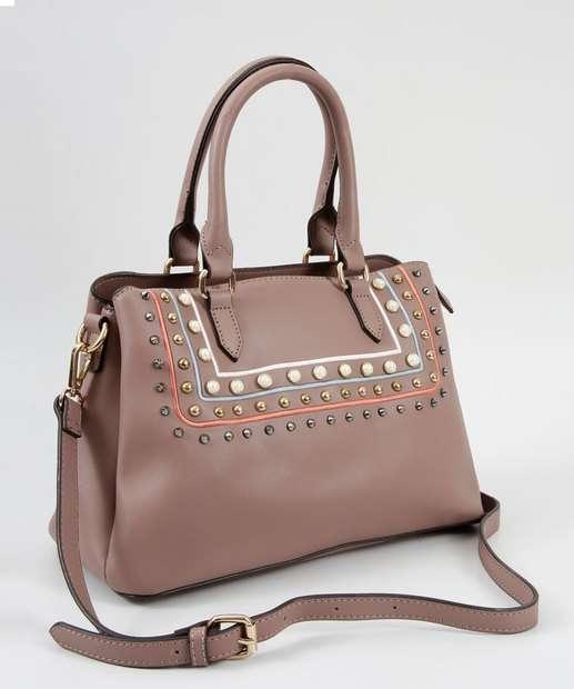 11d9512cd Bolsa Feminina de Mão Pedraria Chenson