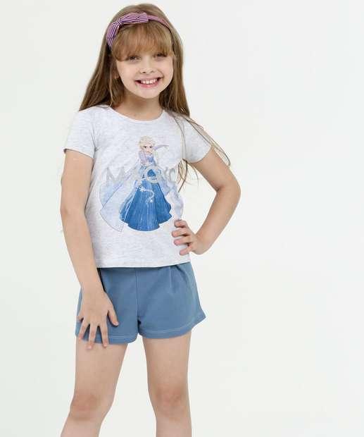 Image_Conjunto Infantil Estampa Frozen Manga Curta Disney
