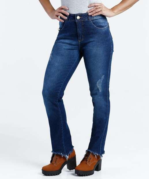 Image_Calça Feminina Jeans Cigarrete Puídos Stretch Biotipo