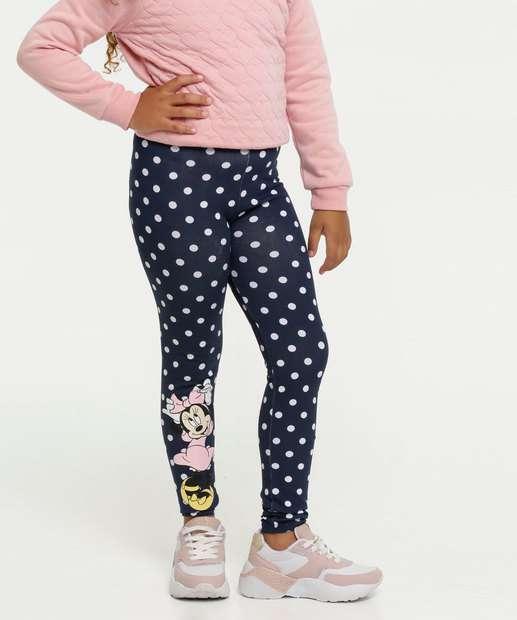 Image_Calça Infantil Legging Estampa Bolinhas Minnie Disney