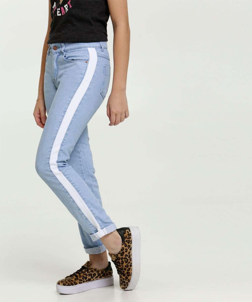 Calça Juvenil Jeans Recorte Marisa